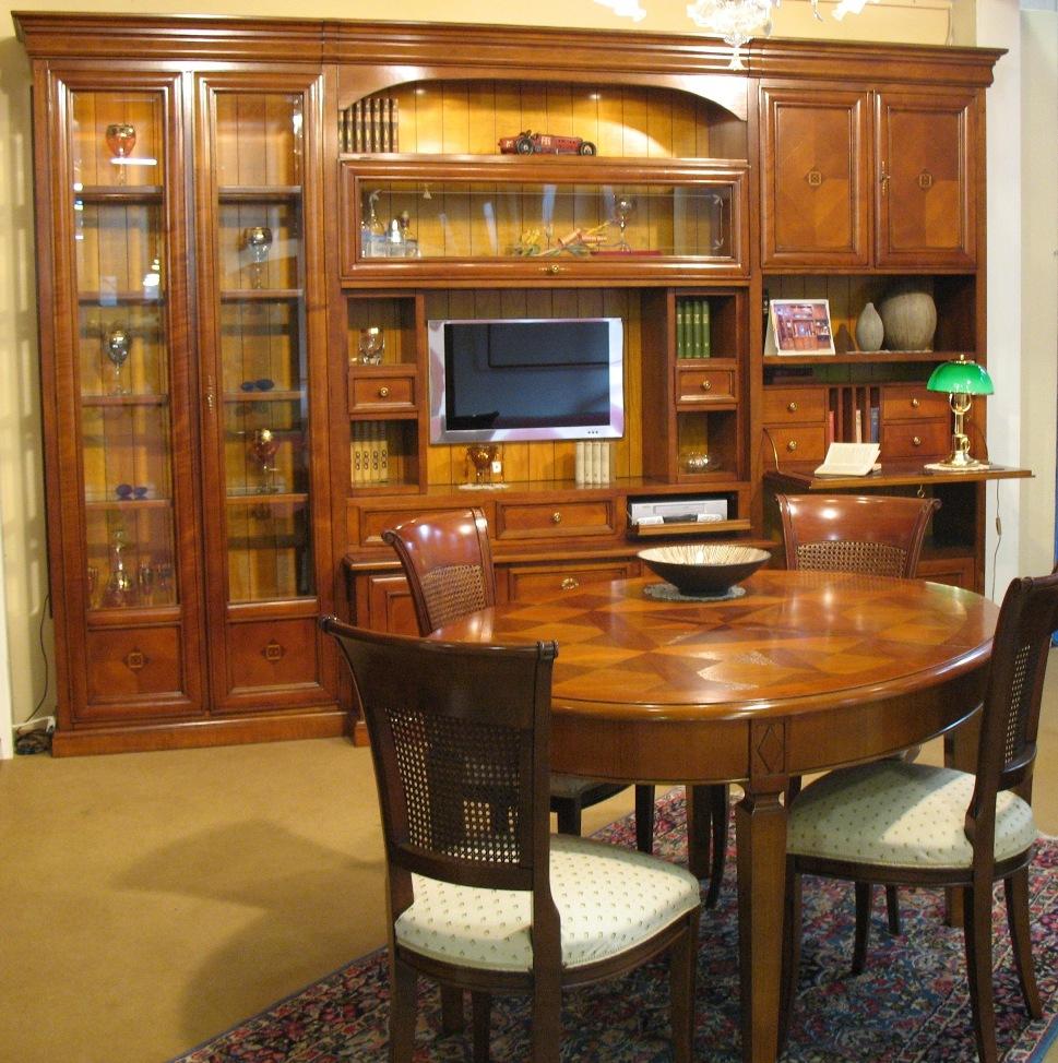 Sale da pranzo e pareti attrezzate artigianali in legno a ...